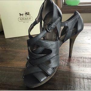 COACH. Aenya Graphite heels.  Size 7